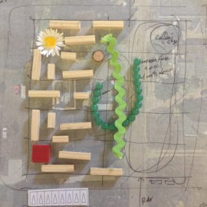 Using play pieces to conceptualize cohousing site