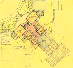 Sketch showing layout of common house